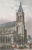 Stich von Geschichte und Denkmäler von Paris - Kirche Saint  Séverin