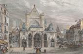 Stich von Geschichte und Denkmäler von Paris - Kirche  Saint Germain l'Auxerrois