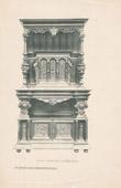 Stich von [01/56] - Französische Antike Möbel - Geschnitzte Hölzerne - Antikes Gravuren in Holz durch Gustave Gallerey - Möbelstil - Stil der Französischen Rena