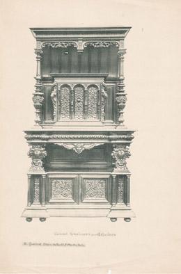 [01/56] - Französische Antike Möbel - Geschnitzte Hölzerne - Antikes Gravuren in Holz durch Gustave Gallerey - Möbelstil - Stil der Französischen Rena