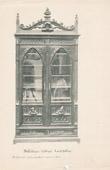 Stich von [04/56] - Französische Antike Möbel - Geschnitzte Hölzerne - Antikes Gravuren in Holz durch Gustave Gallerey - Möbelstil - Stil Französische Gotik - B