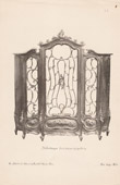 [15/56] - Antique french carved wooden furnitures and Antique Woodcarving by Gustave Gallerey - French Louis XV Style Bookcase (Bibliotheque)