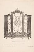 Stich von [15/56] - Französische Antike Möbel - Geschnitzte Hölzerne - Antikes Gravuren in Holz durch Gustave Gallerey - Möbelstil - Der Stil Louis XV - Büchers