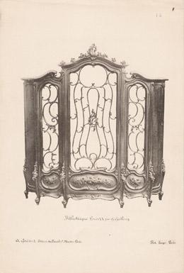 [15/56] - Franz�sische Antike M�bel - Geschnitzte H�lzerne - Antikes Gravuren in Holz durch Gustave Gallerey - M�belstil - Der Stil Louis XV - B�chers