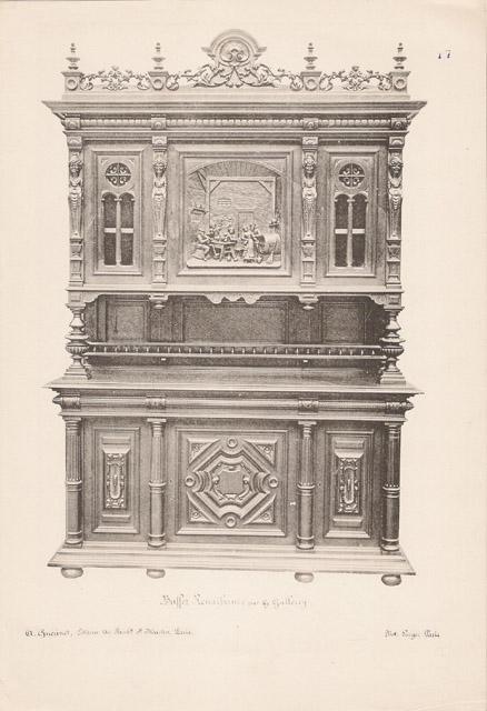 Stampe antiche 17 56 mobili antichi francesi in - Mobili antichi francesi ...