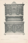 [22/56] - Antique french carved wooden furnitures and Antique Woodcarving by Gustave Gallerey - French Renaissance Style Buffet