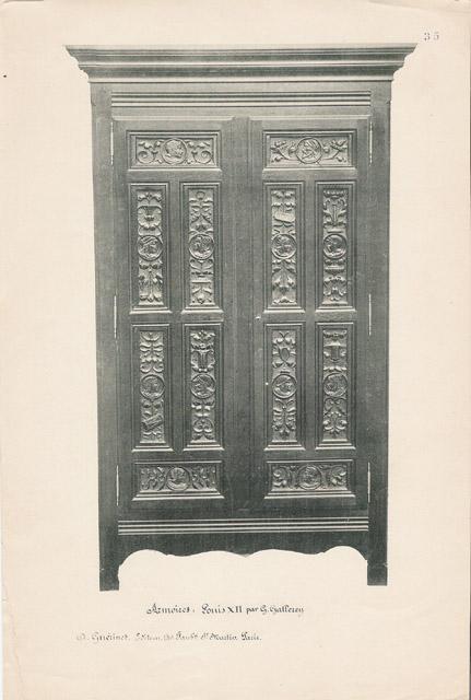 Stampe antiche stampe di antoine gaudreaux - Mobili antichi francesi ...