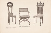 [38/56] - Antique french carved wooden furnitures and Antique Woodcarving by Gustave Gallerey - French Gothic Style Sit, Chair and Armchair