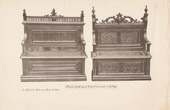 [41/56] - Antique french carved wooden furnitures and Antique Woodcarving by Gustave Gallerey - French Renaissance Style Sit and Bench