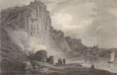 Antique print - St Vincent's Rock - Clifton - Glocestershire  (England)
