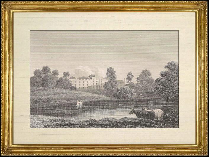 Gravures Anciennes & Dessins   Paysage et Monument (Angleterre)   Gravure sur cuivre   1808