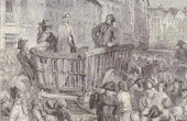 History and Monuments of Paris - French Revolution - Charlotte Corday led to the Guillotine