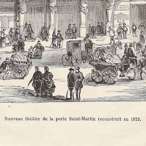 Gravures anciennes histoire et monuments de paris - Theatre de la porte saint martin plan ...