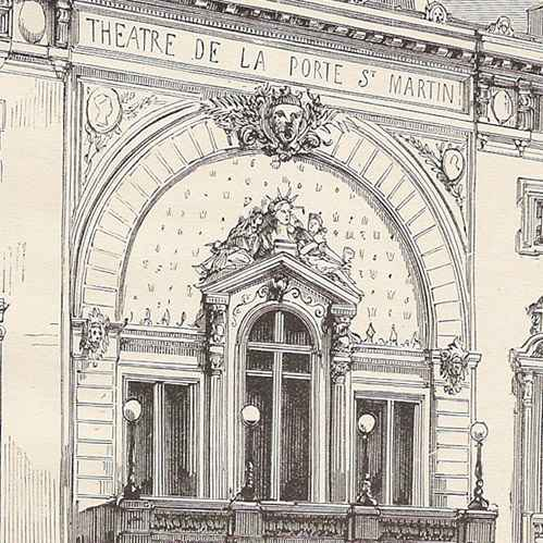 Gravures anciennes histoire et monuments de paris th tre de la porte saint martin france - Theatre de la porte saint martin plan ...