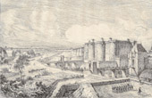 History and Monuments of Paris - The Bastille under Charles V (France)