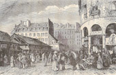 History and Monuments of Paris - Market - March� du Temple (France)