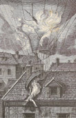 History and Monuments of Paris - Dramatic Death of Mrs. Blanchard, Aeronaut, on July 6, 1829.