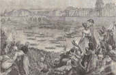 History and Monuments of Paris - French Revolution - Naval Tournament on the Seine (1790)