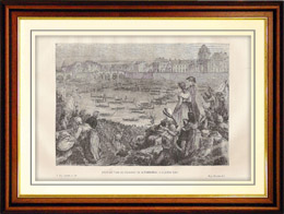 Geschichte und Denkm�ler von Paris - Franz�sische Revolution - Marineturnier auf dem Seine (1790)