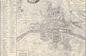 Antique Map of Paris under the Reign of Charles VII (1422) until the End of the Reign of Henri III (1589)
