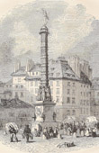 History and Monuments of Paris - Old Column on the Place du Chatelet in Paris (1858)