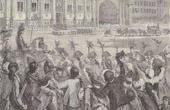 Gravure ancienne - Histoire et Monuments de Paris - Révolution Française - Louis XVI se rendit à l'Hotel de Ville de Paris (1789)
