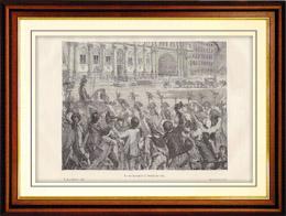 Histoire et Monuments de Paris - Révolution Française - Louis XVI se rendit à l'Hotel de Ville de Paris (1789)