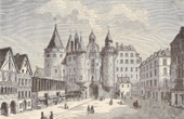 History and Monuments of Paris - Le Ch�telet, Side of the Street Saint-Denis in 1780