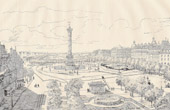 History and Monuments of Paris - The place de la Bastille - Site of its old Fortifications and its Fortress in 1789