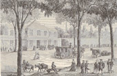History and Monuments of Paris - The Turkish Coffee (Café Turc) on the Boulevard du Temple in 1780