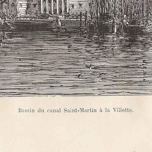 Gravures anciennes histoire et monuments de paris la seine bassin du canal saint martin - Bassin bois concept asnieres sur seine ...