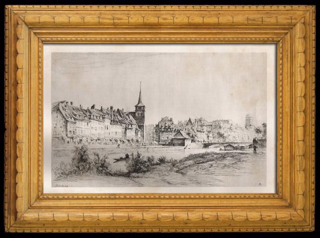 Antique Prints & Drawings | Quai des Pêcheurs in Strasbourg (Alsace - France) | Heliogravure | 1920