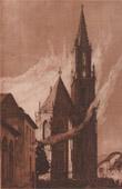 Feux de joie de la St-Thi�baut - Church (Alsace - France)
