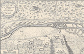 Antique Plan of the Town of Paris since Julius Caesar until the Reign of Clovis