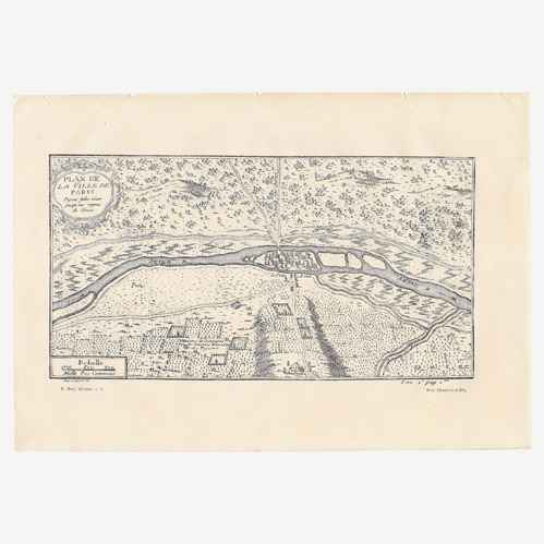 Gravures anciennes ancien plan de la ville de paris - Plan de bibliotheque en bois ...