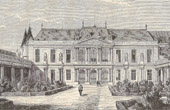 Courtyard of the Old Hotel Soubise in Paris (now Palais des Archives)