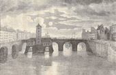 Bridge of Paris - Pont Notre-Dame at the XVIIIth Century