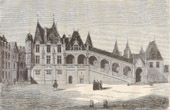Old Palace of the Cour des Comptes in the XIIIth Century (Paris)