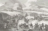 Napoleonic Wars - Napoleon Crossing the Alps through the Saint Bernard Pass