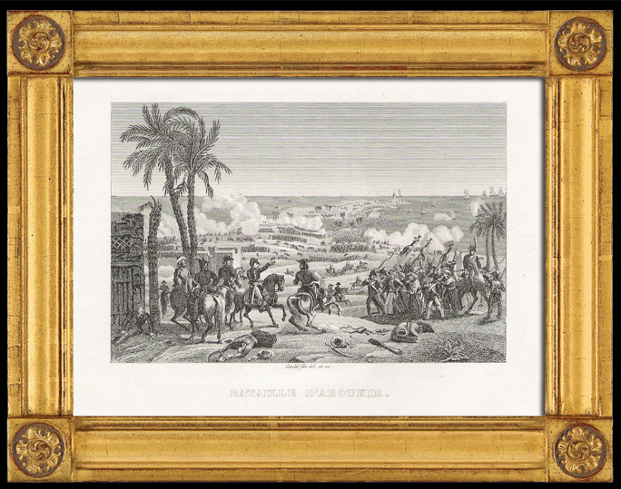 Antique Prints & Drawings | Napoleonic Wars - The Battle of Aboukir Bay or The Battle of the Nile - Egypt (1798) | Intaglio print | 1820