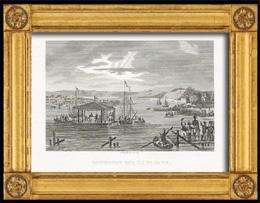 Napoleonische Kriege - Koalitionskriege - Zusammenkunft von Napoleon und des Zaren Alexander I aus Russland auf dem Fluss Memel (1807)