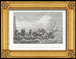 Napoleonische Kriege - Koalitionskriege - Einschiffen von Napoleon f�r St. Helena auf HMS Bellerophon (1815)