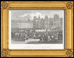 Napoleonische Kriege - Koalitionskriege - Weggang von Napoleon f�r St. Helena - Napol�ons Abschied von der Truppe in Fontainebleau (1814)