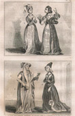 French Fashion and Costumes - 15th Century Style XV - Court of the King of France - Charles VI and Charles VII (1400 / 1422 / 1430)