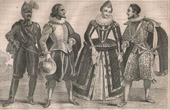 French Fashion and Costumes - 16th Century Style XVI - Court of the King of France - Henry IV (1590)
