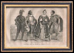 Französische Mode und Kostüme - 16. Jahrhundert - Königliche Gericht - Heinrich IV, König von Frankreich (1590)
