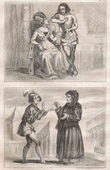 French Fashion and Military Costumes - 14th Century Style XIV - Valet - Servant - Judge- Court of the King of France - Charles V (1372 / 1375)