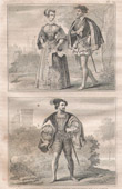 French Fashion and Military Costumes - 16th Century Style XVI - Court of the King of France - Henry II (1550)