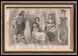 Französische Mode und Militärische Kostüme - 17. Jahrhundert - Königliche Gericht - Ludwig XIV, König von Frankreich (1650)