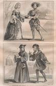Stich von Französische Mode und Militärische Kostüme - 16. Jahrhundert - Vorsteher der kaufleute - Königliche Gericht - Franz I, König von Frankreich (1540)